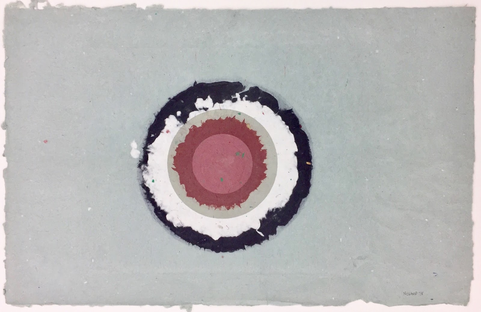 Modern Contemporary Art Collection Circle Ii I 7 From Handmade Paper Project 1978 By Kenneth Noland