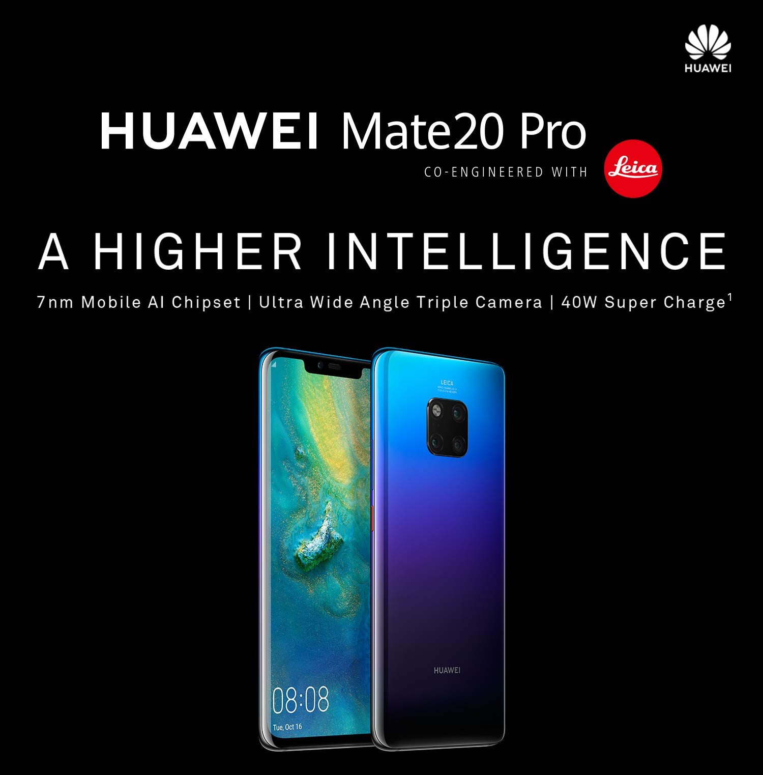 Huawei Mate 20 pro: World's First Smartphone with 7 nm Processor and