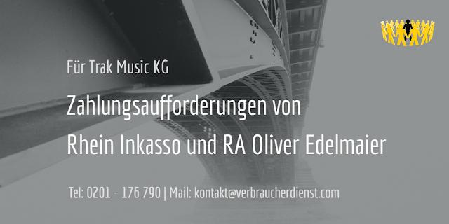 Beitragsbild: Trak Music KG  Rhein Inkasso  RA Oliver Edelmaier