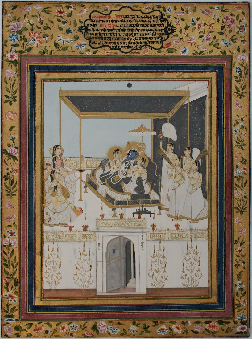 Folio from a Baramasa series, the month of Asoj - Jaipur, c1850