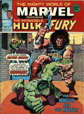 Mighty World of Marvel #271, Hulk vs Mongu