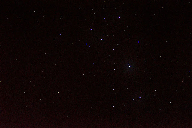 Spotted the Pleiades (M45) in the lower right corner of this 8 second image (Source: Palmia Observatory)