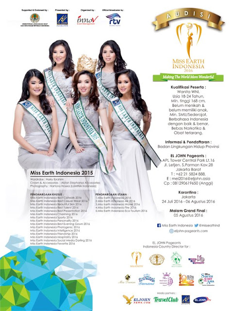 Audisi Miss Earth Indonesia 2016