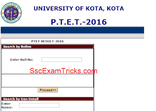 Rajasthan PTET Result 2016 Announced