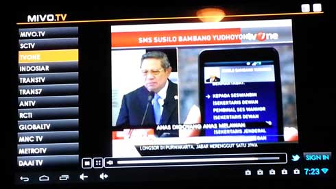 Mivo TV - Aplikasi Laptop Nonton TV Online Yang Ringan Dan Jernih