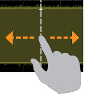 Need to reposition a cursor? Touch, hold, and drag it