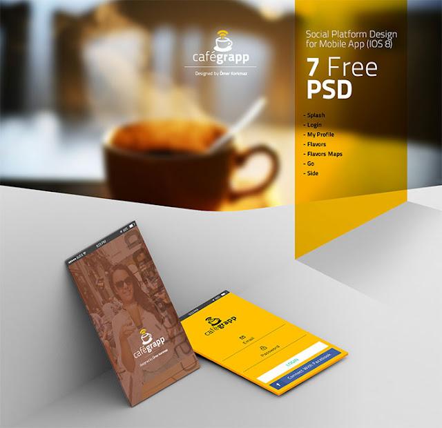 Cafegrapp – IOS 8 App Design UI Kit