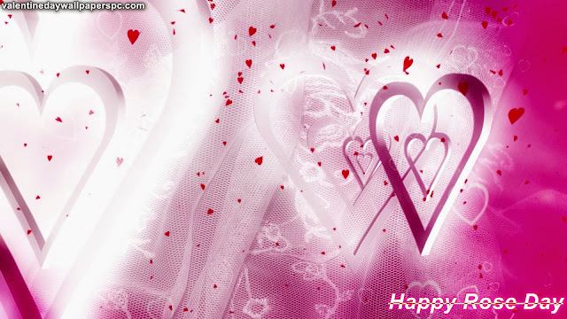Happy Rose Day Heart Wallpaper