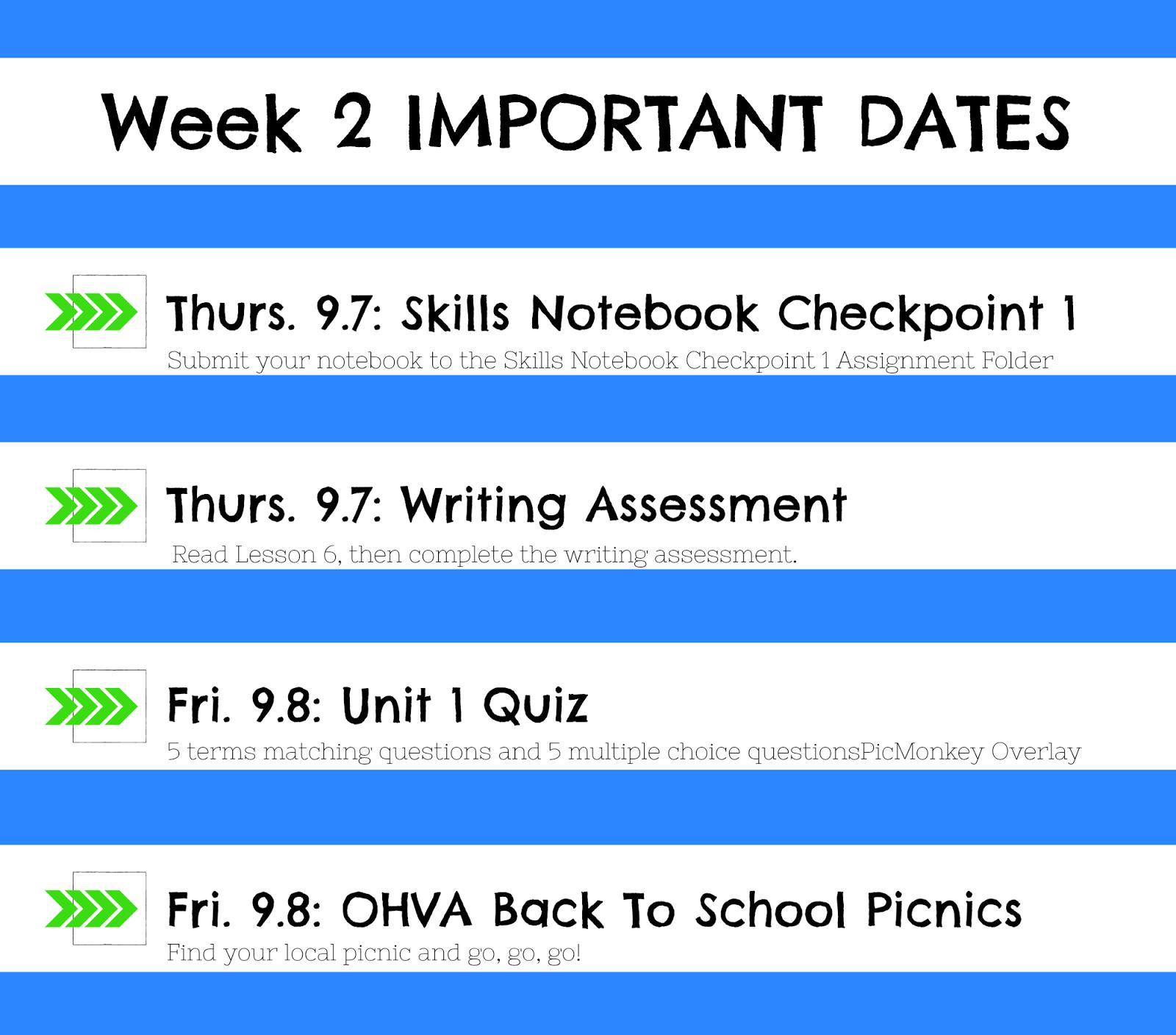 ENGLISH 9 - WEEK 2 - Room 108