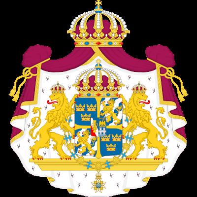 Coat of arms - Flags - Emblem - Logo Gambar Lambang, Simbol, Bendera Negara Swedia