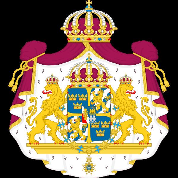 Logo Gambar Lambang Simbol Negara Swedia PNG JPG ukuran 600 px