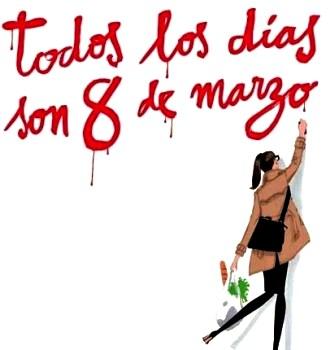 Dibujo por el Día Internacional de la Mujer a colores