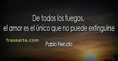 Pablo Neruda palabras de amor