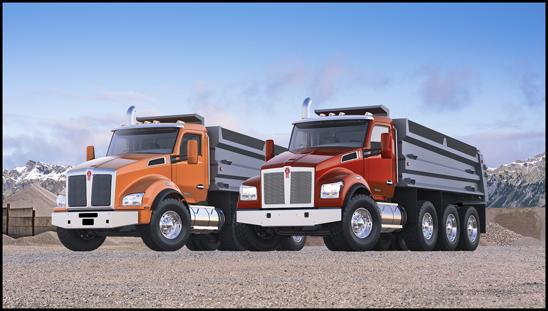 Kenworth T880 and T880S Dump Trucks