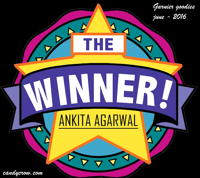 Winner Of Garnier Goodies Giveaway