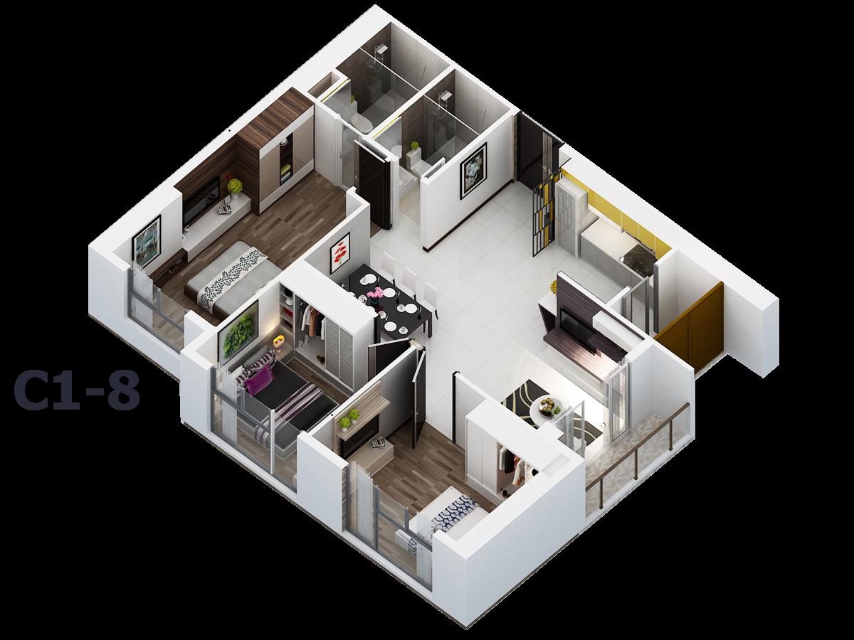 Nhà mẫu căn hộ C1-8 - xi-grand-court