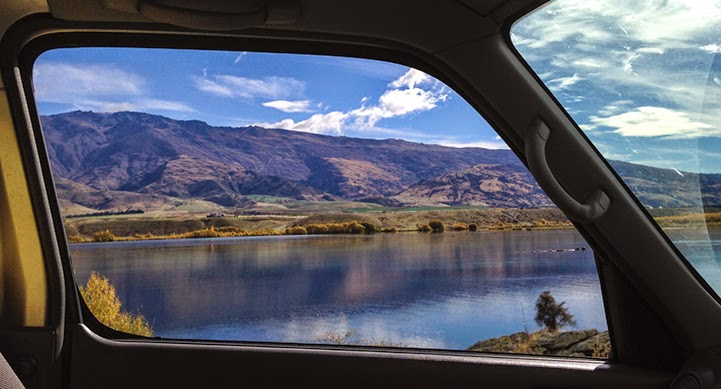 New Zealand ''Vanscapes'' Framed through the Window of a Van