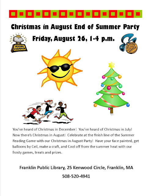 Christmas in August - End of Summer Party at the Franklin LIbrary
