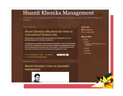 shamit khemka management blogspot