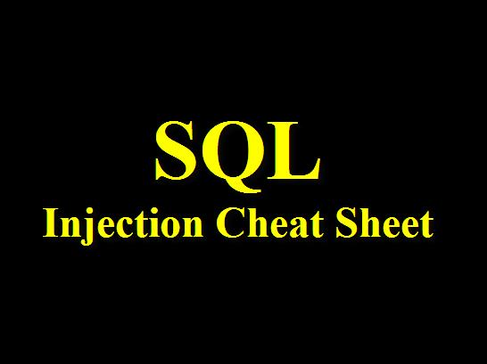 Tội phạm máy tính | [TUT HACK] SQL Injection Cheat Sheet