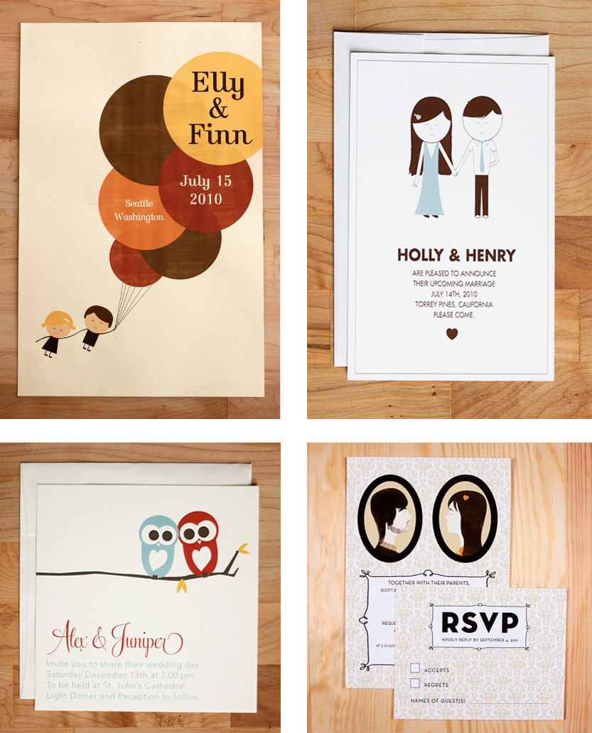 Quirky Wedding Invitation: Ruche: Wedding Wednesday: Quirky Invites