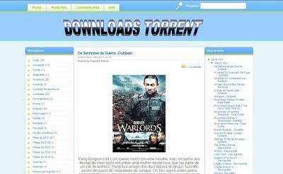 Template para sites de Torrent gratis