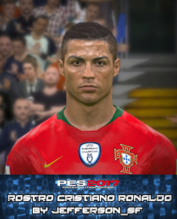PES 2017 Faces Cristiano Ronaldo by FaceEditor Jefferson_SF