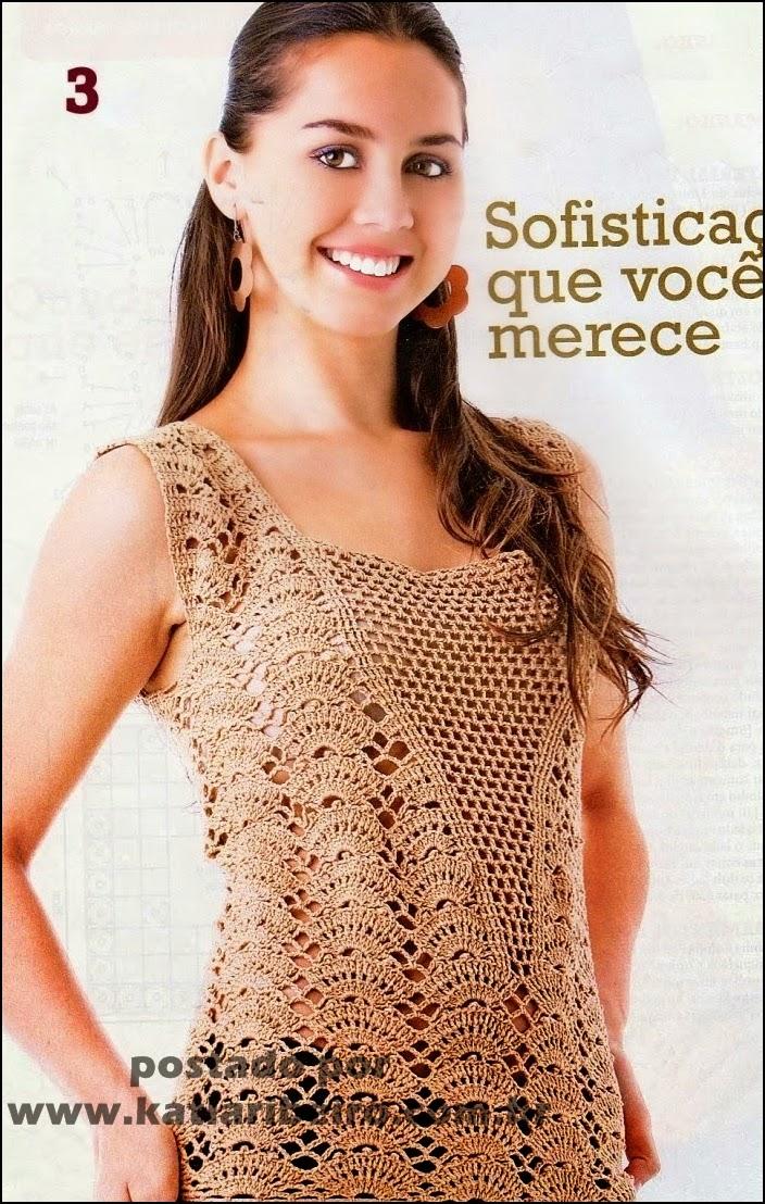 f5c953c907 Katia Ribeiro Crochê Moda e Decoração - Crochê com Gráficos .