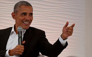 Obama says 'think before you tweet'