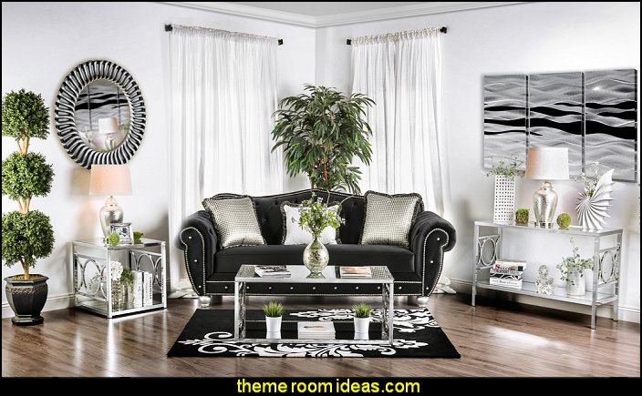 Decorating theme bedrooms maries manor living room for Glam modern living room