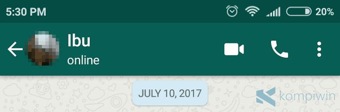 fitur last seen atau terakhir dilihat hari ini di whatsapp