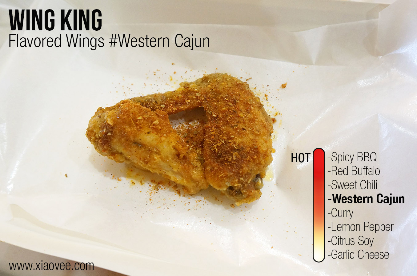 Wing King Surabaya, flavored wing king western cajun