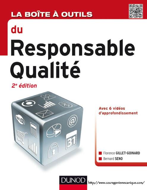 Télécharger La boîte à outils du responsable qualité en PDF - Contrôle du qualité -responsable de la la qualité livre de qualité mécanique chef de qualité service