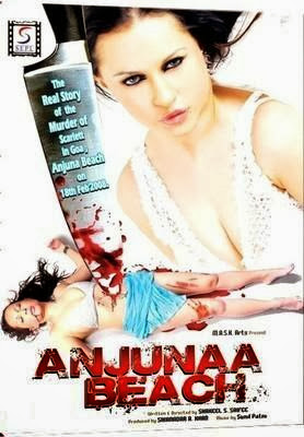 Poster Of Bollywood Movie Anjuna Beach (2012) 300MB Compressed Small Size Pc Movie Free Download worldfree4u.com