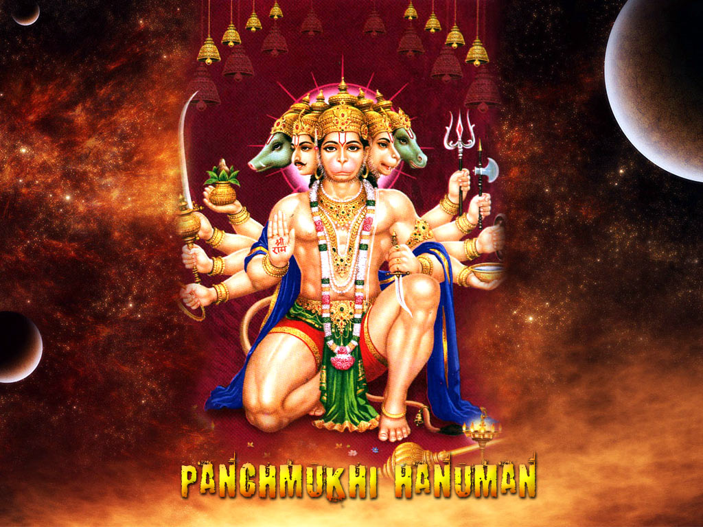 Panchmukhi Hanuman Lord Panchmukhi Hanuman Hindu God Wallpapers