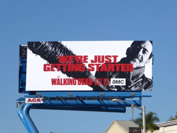Walking Dead season 7 Negan billboard