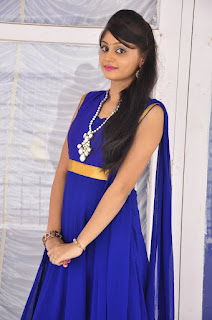 Actress Harisha Krishna Stills in Beautiful Blue Chudiddar  0029.jpg