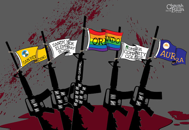 Editorial Cartoon Orlando Shootings NRA Assault Weapons