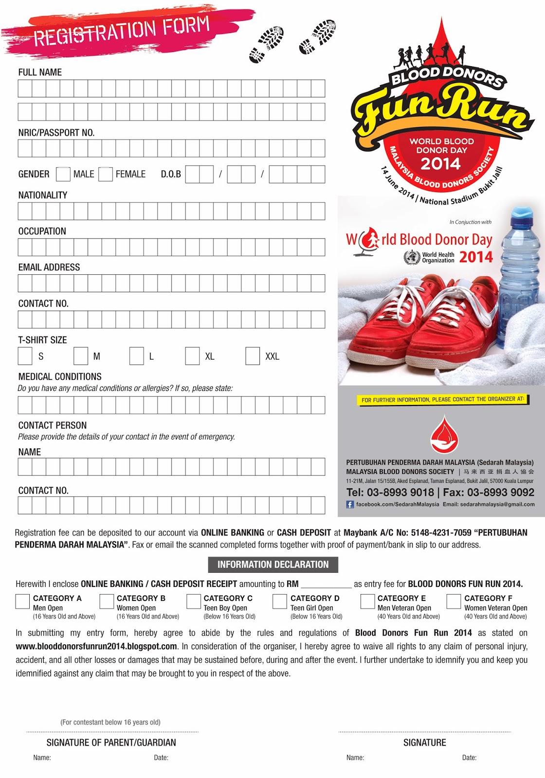 blood donor fun run 2014