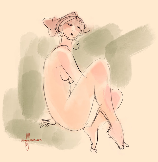 Life drawing by Artmagenta