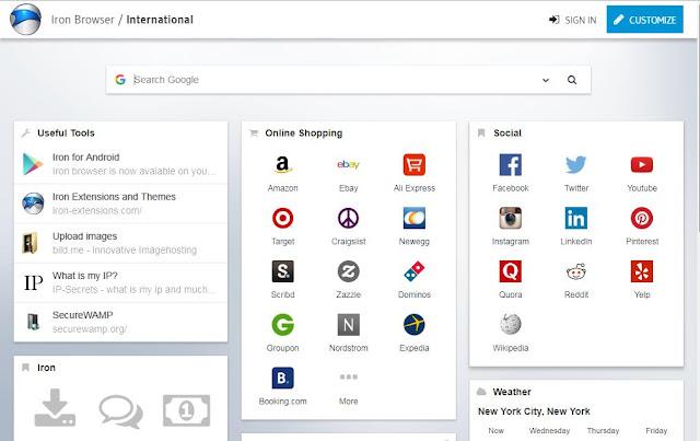 برنامج Iron Browser الجديد برابط مباشر
