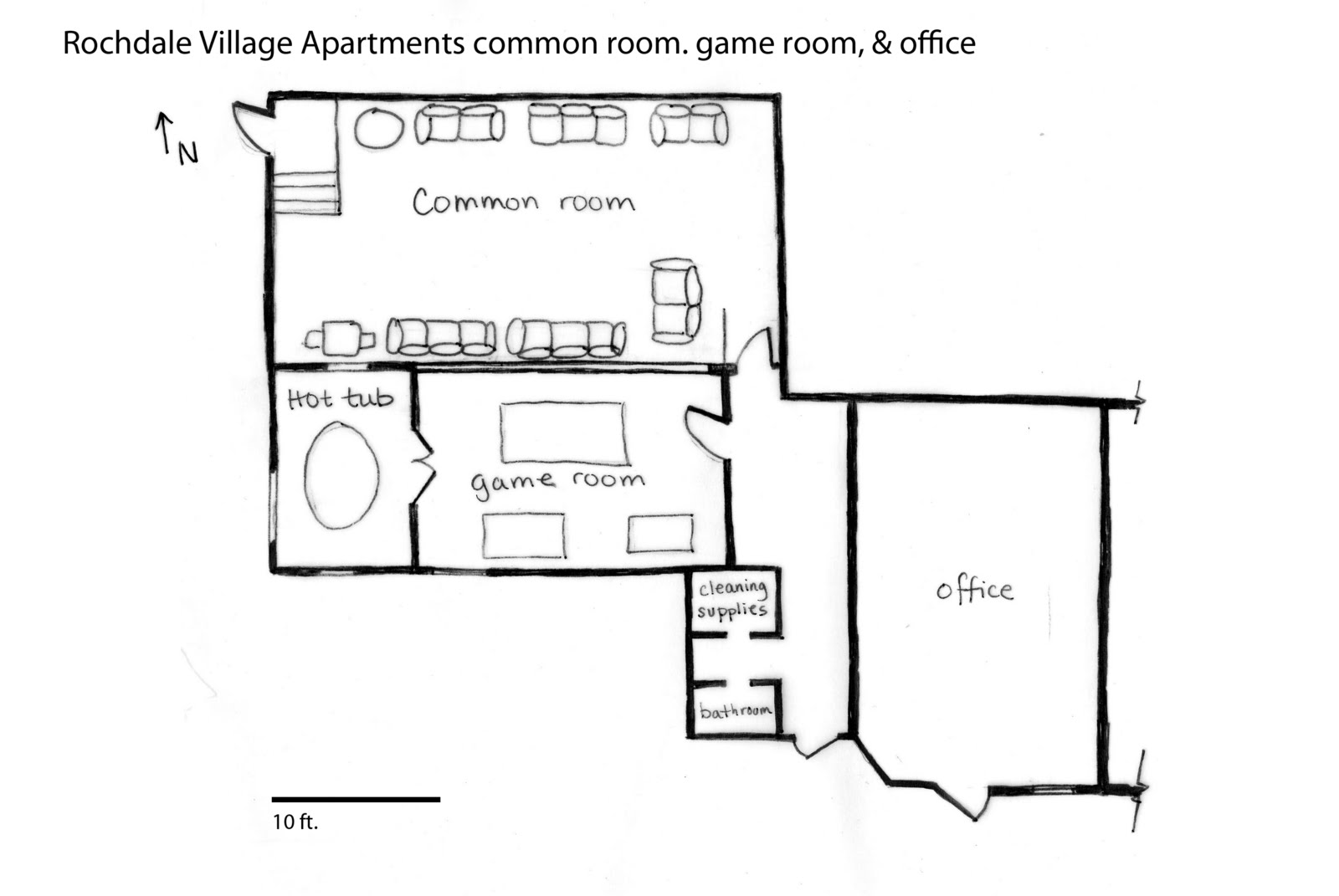 The Most Active Common Es Are Laundry Room Office And Pool Table Is Used For Social Events