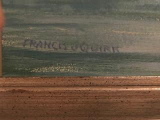 Francis Quirk Signature, Maine Painter Francis J. Quirk,