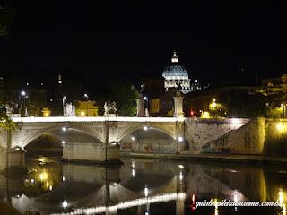 vista sao pedro castel sant angelo - Castel Sant'Angelo de noite