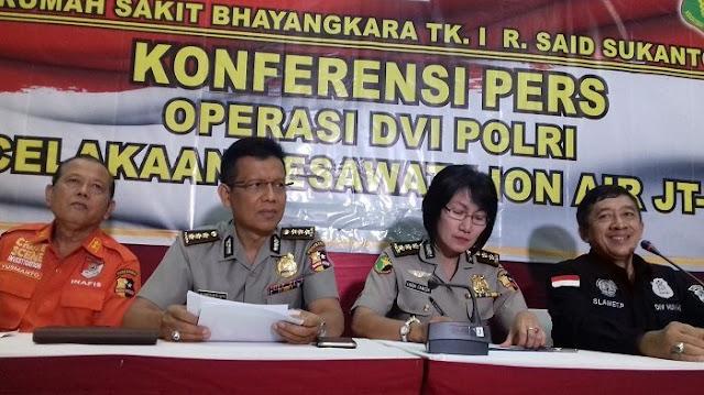 105 Kantong Jenazah Penumpang Lion Air JT-610 Ditemukan, 7 Telah Teridentifikasi, Berikut Datanya