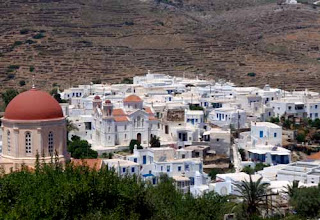 Town of Pigros Tinos Greek Island Greece