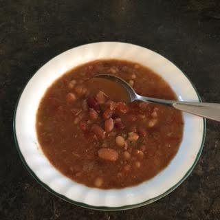 Enjoy a bowl of bean soup