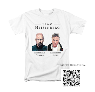 Team Heisenberg T Shirt by Boulder artist Tom Roderick