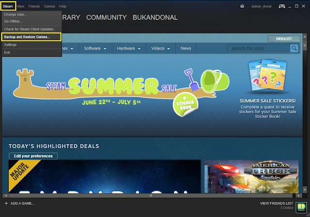 Restore Game Steam