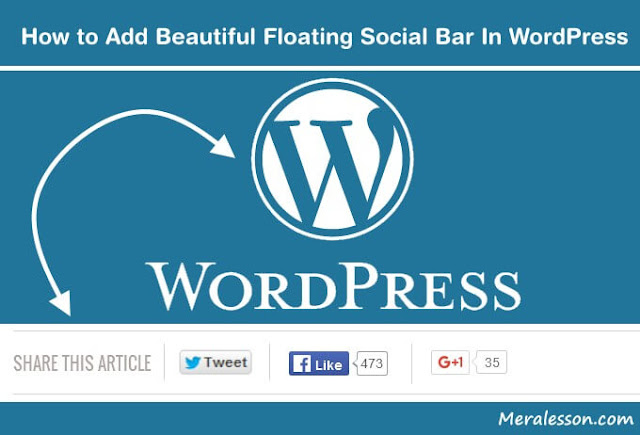 Add floating bar like WP in WordPress